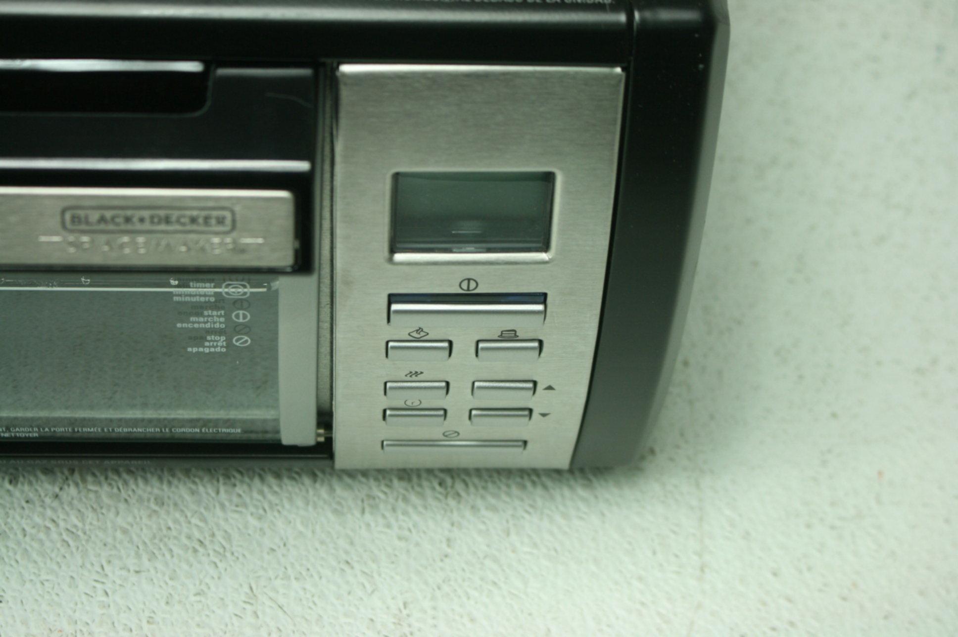Black Decker Spacemaker Counter Toaster Oven Black