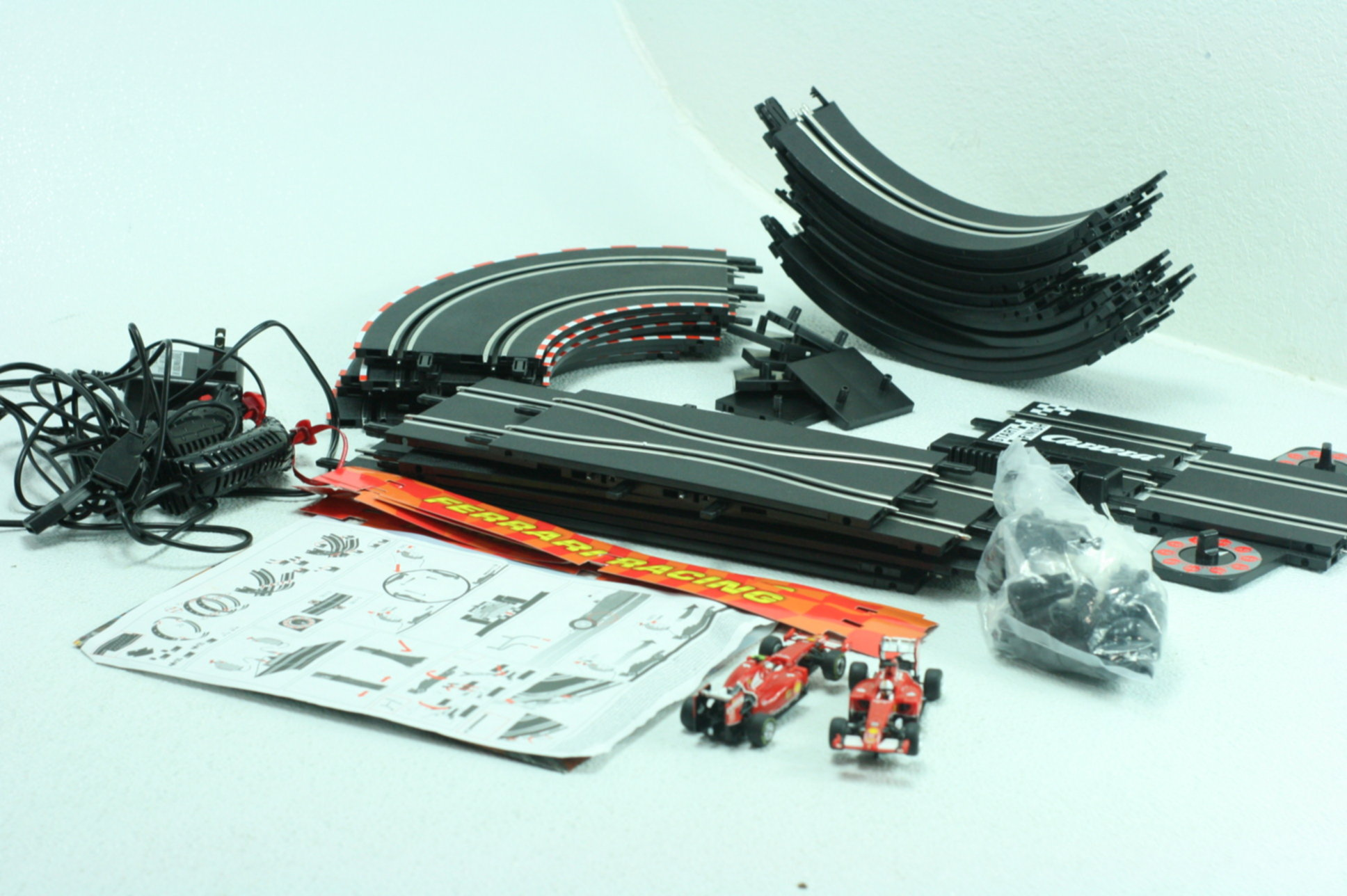 Carrera Go Ferrari Red Champions Slot Car Racetrack 1 43 Scale Track Wiring Race To Analog System