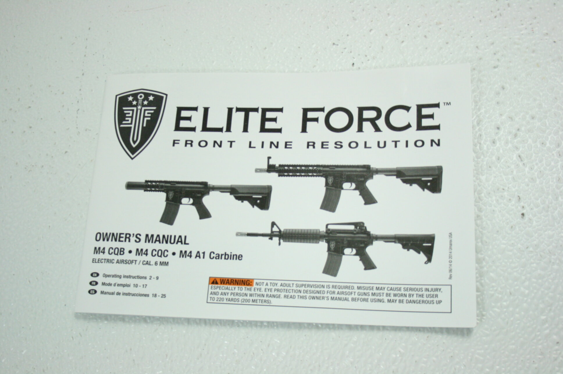 Details about Umarex Elite Force AEG Fully Automatic 6mm BB Rifle Airsoft  Marker CQB Black