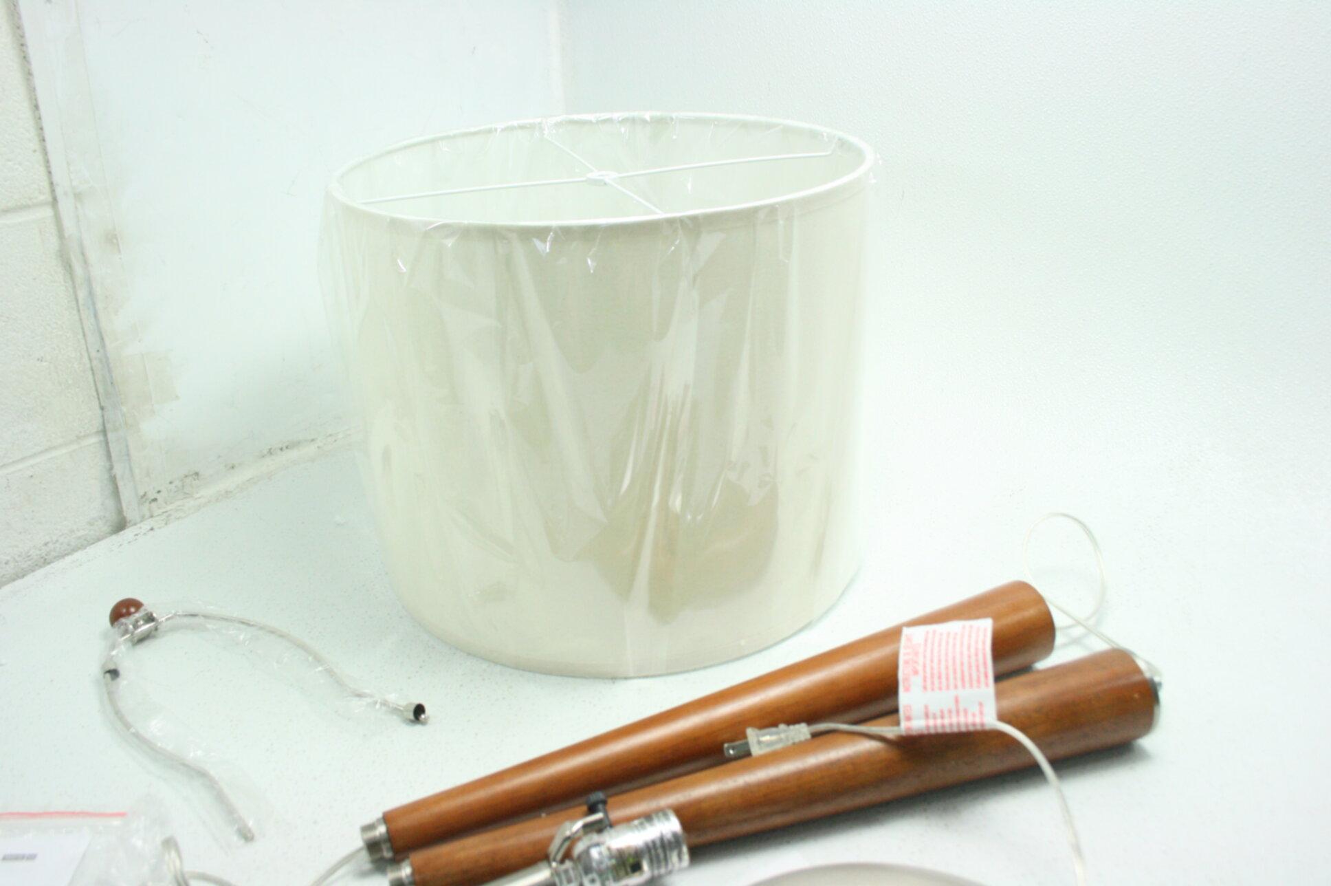 Adesso 3341 13 Hudson Floor Lamp One Size Dark Maple Urban Style Drum Shade 690443419684 Ebay