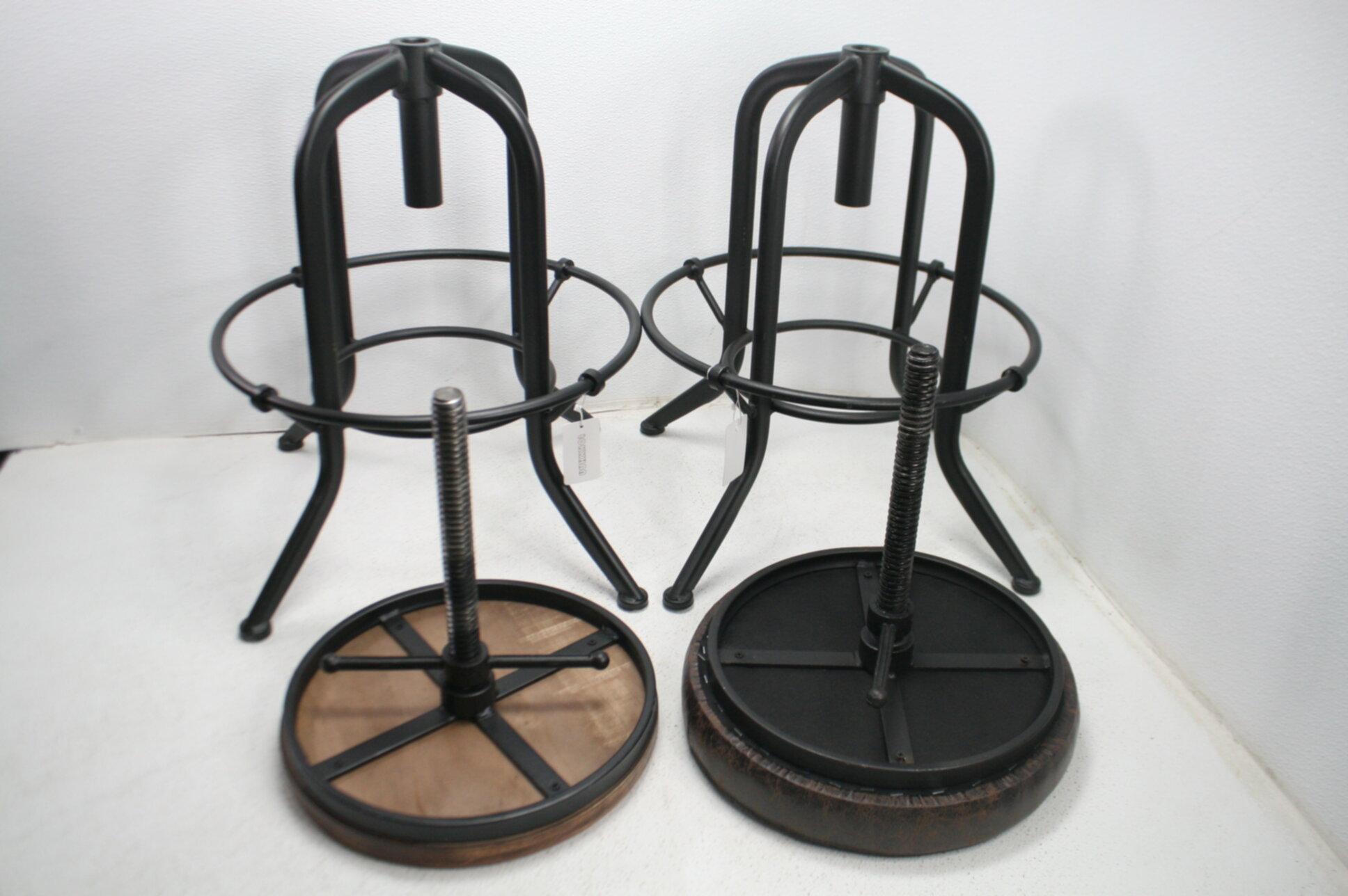 read notes set of 2 industrial bar stool vintage adjustable metal rustic chair
